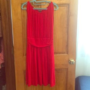 Red lined express dress